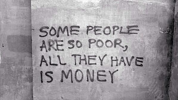 money poor wall